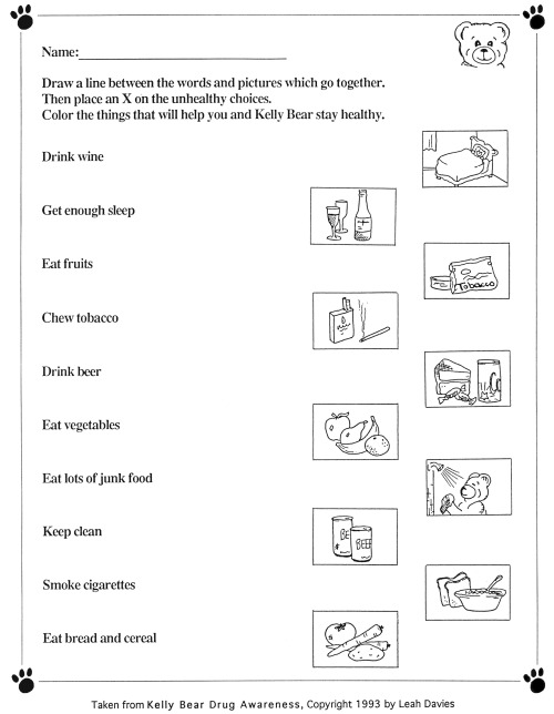 Printables Elementary Health Worksheets health worksheets templates and fitness worksheet free esl printable made