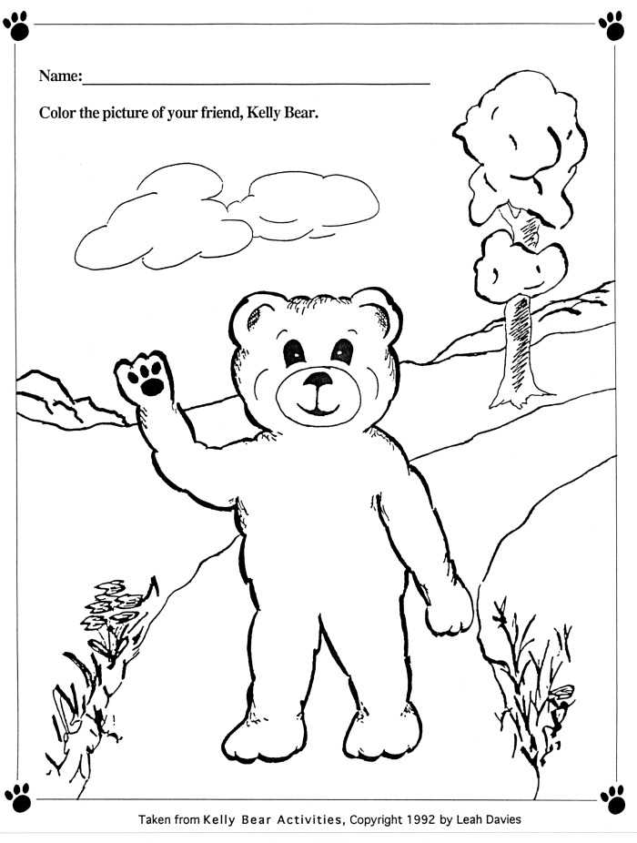 Color Kelly Bear pg